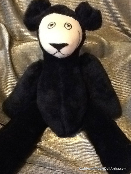 Happy Bear: Black Faux Fur 40.5 cm / 16 ""