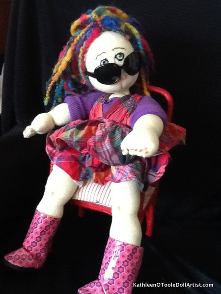 Cloth Doll: Rainbow Girl 46 cm / 18 ""