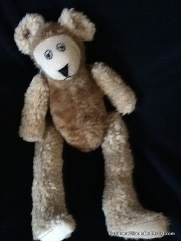 Happy Bear: Mixed Faux Fur in Beige 43 cm / 17 ""