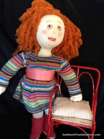 Cloth Doll: Big Hair Waldorf style 40.5cm / 16""