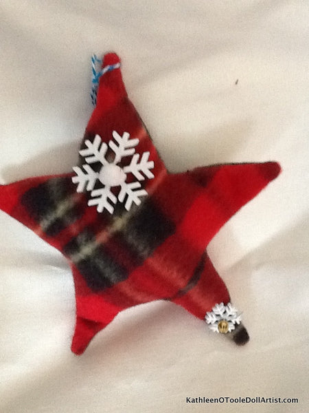 Christmas Ornament: Plaid Stars 14 cm / 5.5 ""