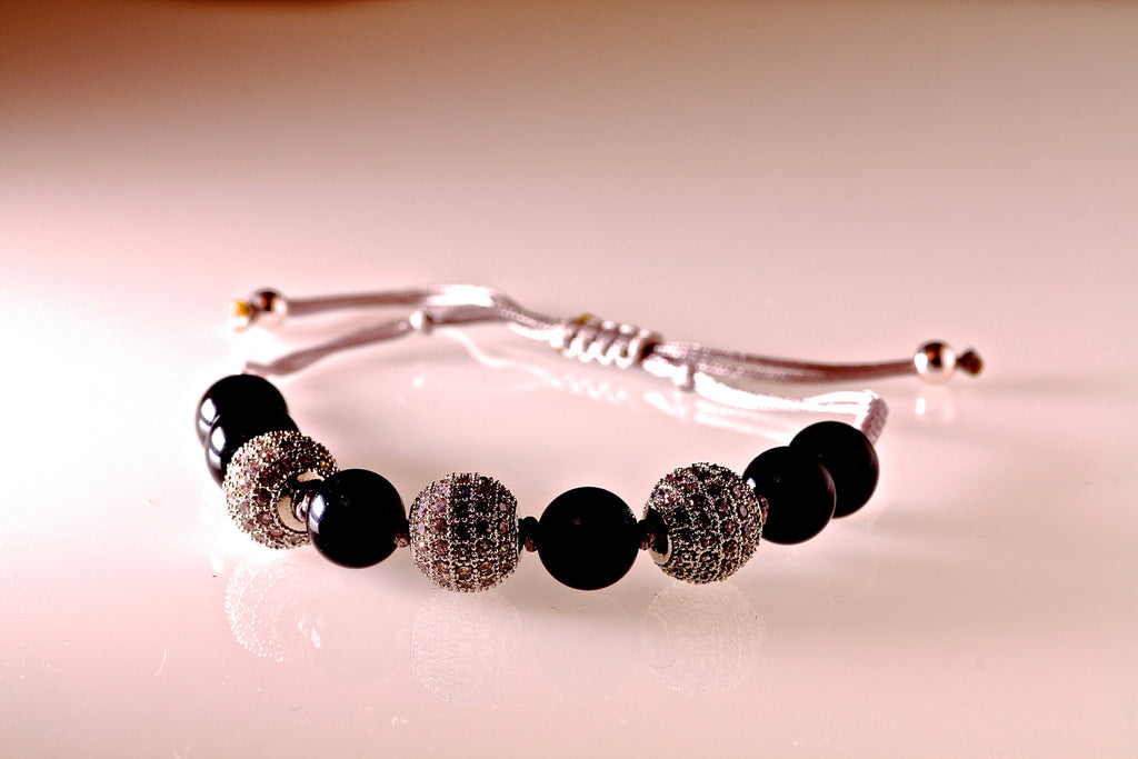 Obsidian Gemstone Bracelet (the mystic one)