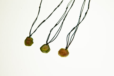 Watermelon Tourmaline Drop Necklace (set 1)
