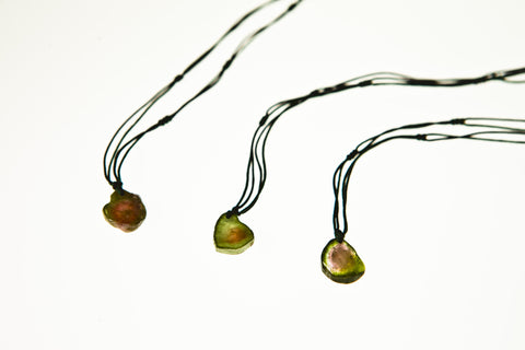 Watermelon Tourmaline Drop Necklace (set 2)