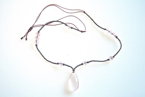 Rose Quartz necklace (made-to-order collection)