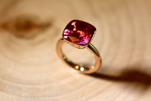Lauren ring - Pink Topaz