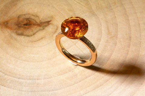 Nikita ring - Yellow Quartz