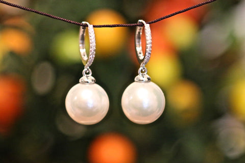 Koji Pearl and Gold Earrings