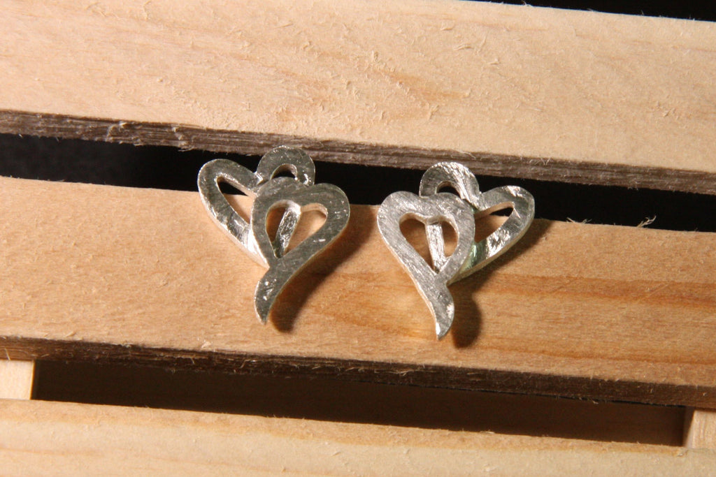 Pure Silver Heart Earrings