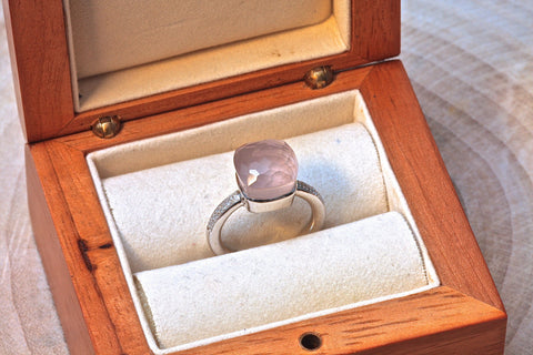 Anastasia ring - Rose Quartz