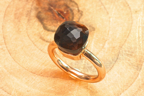 Anastasia ring - Smoky Quartz