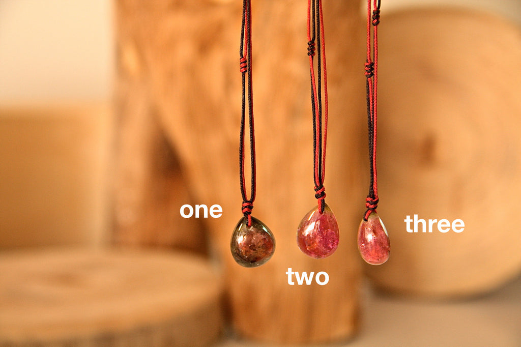 Tourmaline Drop Necklace Nine