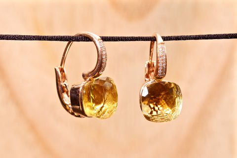 Anastasia earrings - Lemon quartz