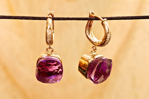 Anastasia earrings - Amethyst