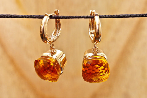 Anastasia earrings - Yellow quartz