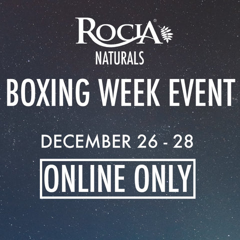 Roci Naturals Boxing Weekend Event