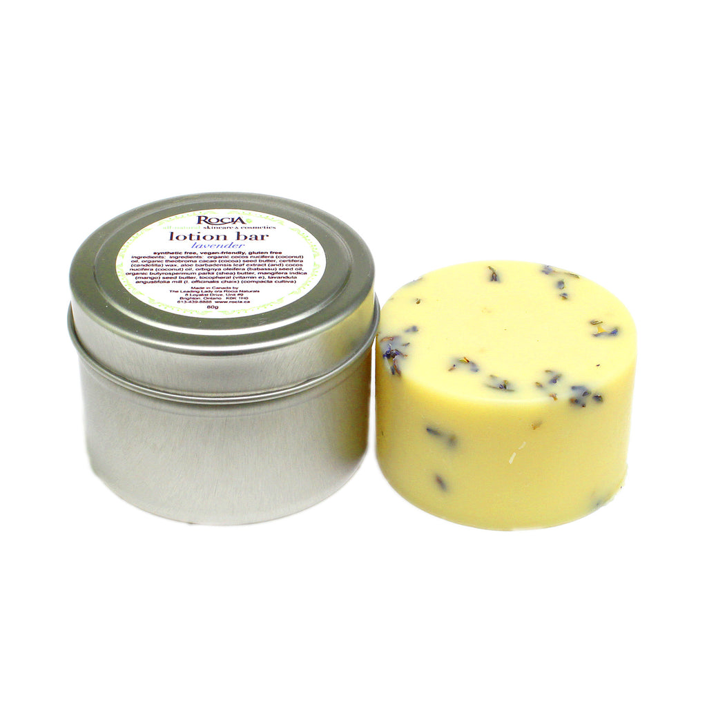 lavender vegan lotion bar by rocia naturals