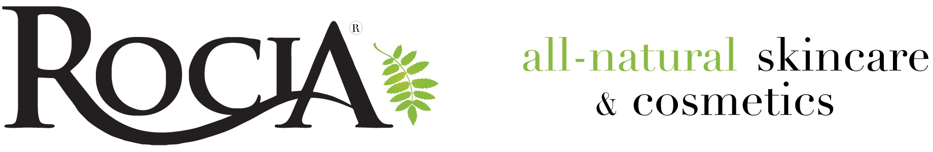 rocia® naturals | all-natural skincare & cosmetics  logo