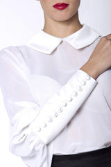 White muslin blouse