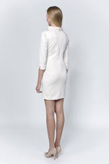Allegretto cream cotton dress
