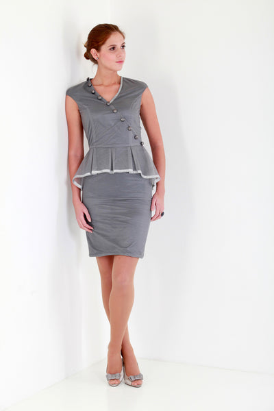 Allegretto grey cocktail dress