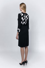 Cotton dress with check patterns