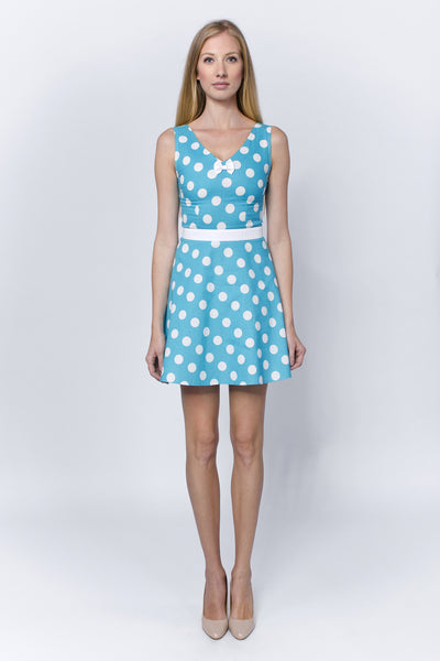 Dotted turquoise summer dress