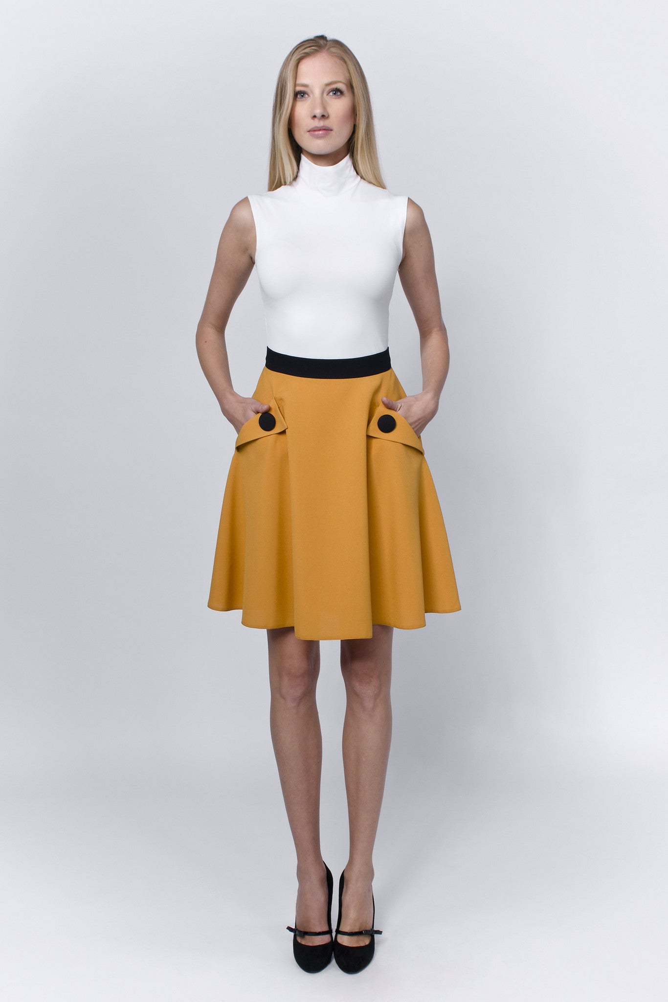 Mustard-round-skirt-Laccafashion