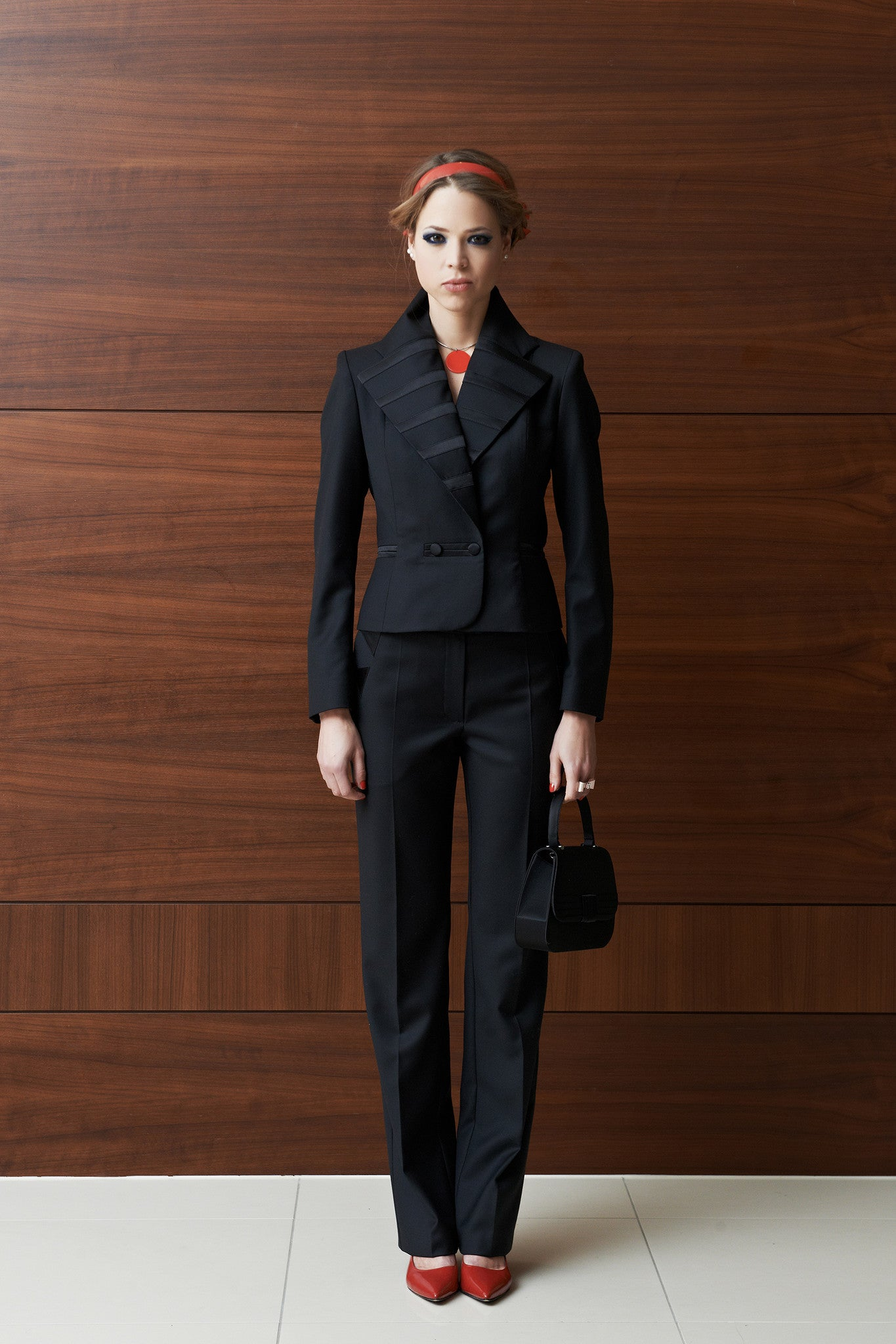 Tulipani Rossi black trouser suit