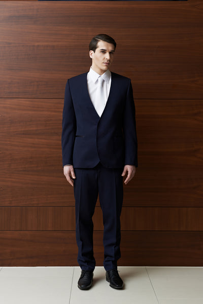 Tulipani Rossi dark blue suit