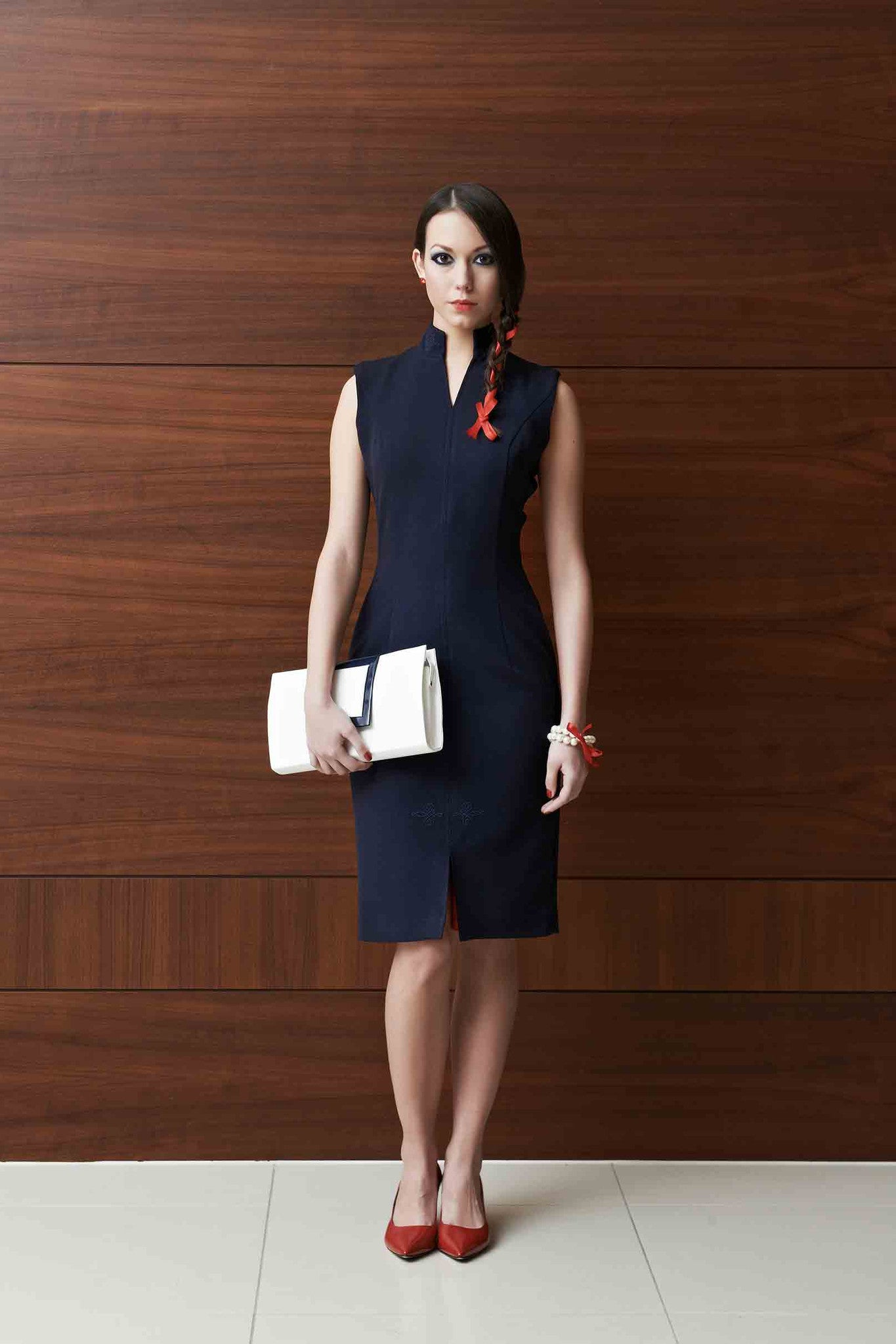 Tulipani Rossi dark blue tubular dress