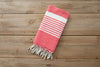 cheap red foutas turkish towel