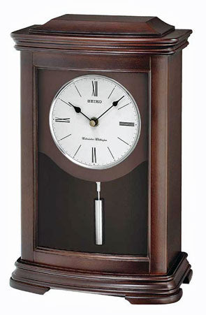 Seiko CHIME MANTEL CLOCK WITH PENDULUM QXQ013BLH