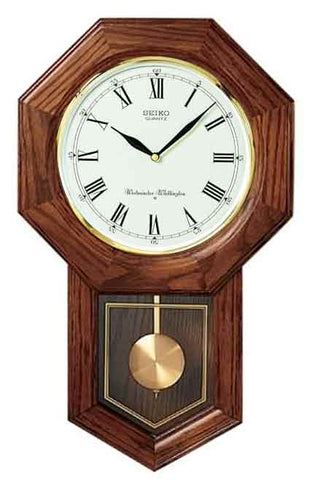 Seiko CHIME SCHOOLHOUSE WALL WITH PENDULUM QXH102BC