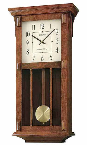 Seiko CHIME WALL CLOCK WITH PENDULUM QXH045BLH