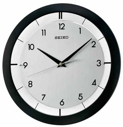Seiko WALL CLOCK WITH BRUSHED METAL DIAL