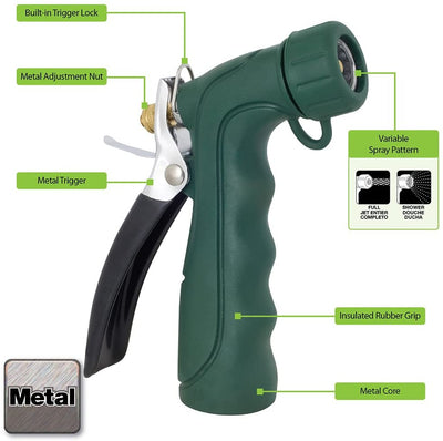 Melnor 493C Insulated Heavy-Duty Aqua-Gun Nozzle with Threaded Front