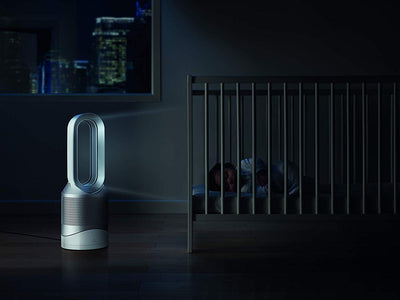 Dyson Pure Hot + Cool, HP01 HEPA Air Purifier, Space Heater and Fan White/Silver