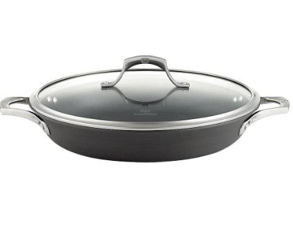 calphalon unison everyday pan with cover 12inch gray