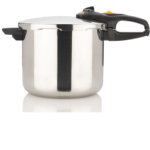 Fagor DUO 10 Quart - Multi-Setting Pressure Cooker and Canner with Accessories, Polished Stainless Steel