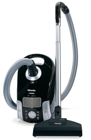 Miele Compact C1 Turbo Team Canister Vacuum, Obsidian Black