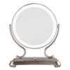 Zadro Polished Nickel Surround Light Dual Sided Glamour Vanity Mirror, 5X / 1X Magnification