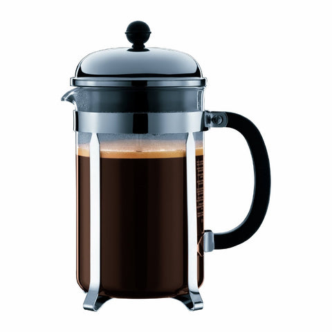 Bodum Chambord 12 cup French Press Coffee Maker, 51 oz, Chrome
