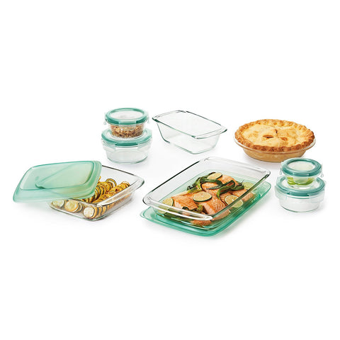 OXO Good Grips 14 Piece Freezer-to-Oven Safe Glass Bake, Serve and Store Set 11182400