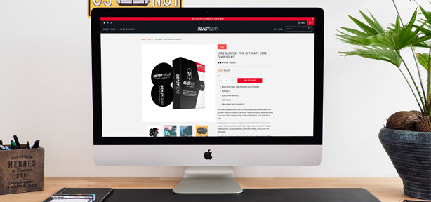 Shopify website set up for Beast Gear