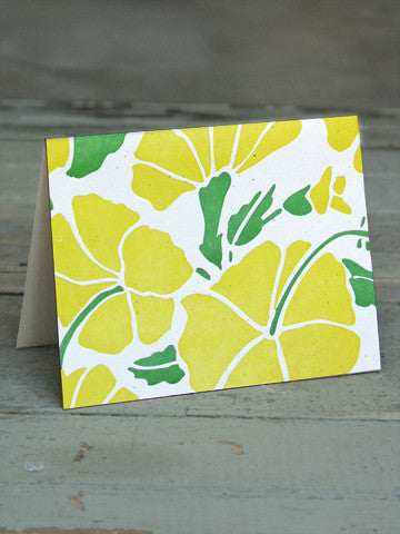 HIBISCUS CARD - GREEN