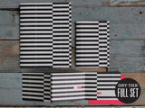 BLACK STRIPE TRI-FOLD