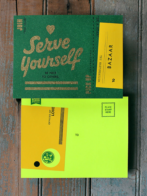 Serve Yourself Postcard