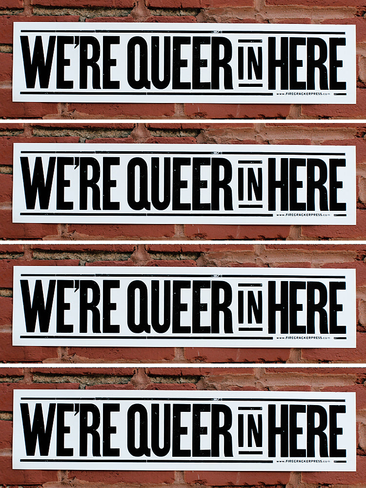 We're Queer in Here - Single Poster
