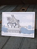 ST. LOUIS STATUE CARD